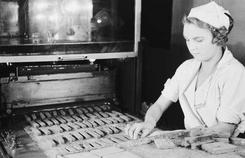 Asola-fabrikken dokumentert av Wilse i 1935Foto: Anders Beer Wilse/ Norsk Folkemuseum<br>