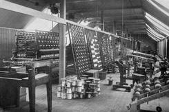 Varpesalen på loftet, ca 1914. Foto: NTM