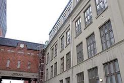 Lissefabrikken rett før deler av bygningsmassene ble revet og konvertert til boliger.