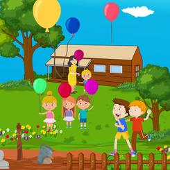 Ved ballongfabrikken, fra barneboken