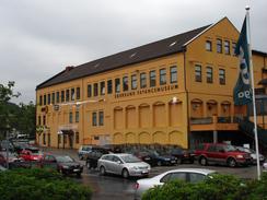 Den gamle fayancefabrikken er blitt til Amfi kjøpesenterFoto: Dag Andreassen / NTM<br>