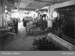Fra fabrikken i Oslo i 1949. Foto: Wilhelm Råger/Oslo Museum/www.oslobilder.no