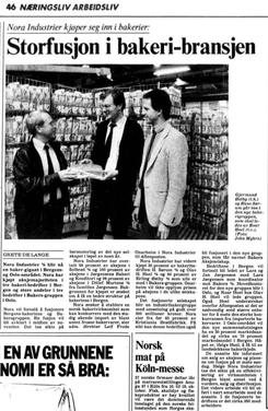 Faksimile fra Aftenposten okt. 1987Foto: Aftenposten<br>