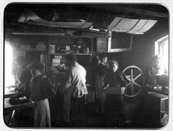 Første bilde fra fabrikken, 1898Foto: Minde Sjokolade<br>