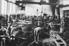 Støperiet Foss Jernstøperi, 1920-årene, Foto: NTM