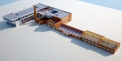 Arkitekttegning av det nye 8-13-skolebygget i FyrstikkalleenFoto: Oslo Kommune, utdanningsetaten<br>
