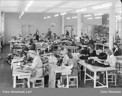 Fabrikken i 1948 fotografert av Leif Ørnelund. Foto: Oslo Museum/www.oslobilder.no