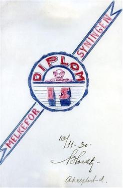 Første skisse til logo, 1930Foto: Diplom-Is<br>