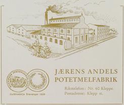 Brosjyre fra ca. 1936Foto: Jæren Potetmjølfabrikk 75 år<br>