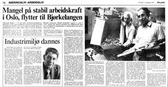 Intervju med far og sønn Formo i Aftenposten i forbindelse med flytting i 1979?