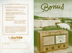 Gastor Bonus, ca 1949. Prisen var kr. 269,-
