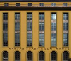 Margarinfabrikkens fasade mot Stavangergata i OsloFoto: Dag Andreassen<br>