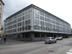 Industribygget i Innherredsveien, bygd av Trondheim kommune i 1946Foto: Dag Andreassen<br>