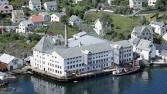 Fabrikken på 1960-talletFoto: Askøy Kommune / Widerøe<br>