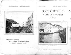 Reklamebrosjyre fra etter gjenoppbyggingen i 1907Foto: Åsane Historielag<br>
