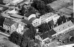Linnekogel i forgrunn. Flyfoto fra 1951, tilhører Oslo Byarkiv (A-20027_Up0001_007)
