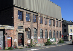 De forfalne restene av Rap Motorfabrikk på Rodeløkka
