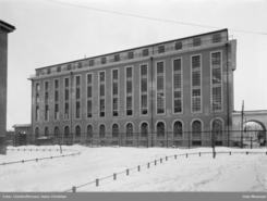 Margarinfabrikken slik den så ut før heistårnet med kuppelen ble påbygd.Foto: Christoffersen, Hans Christian / Olo Museum<br>