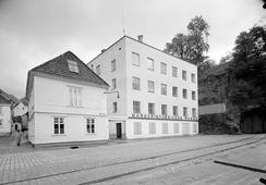 Margarinfabrikken Norge i Skuteviken, Bergen, ca 1950Foto: Norvin Reklamefoto / UbBergen<br>