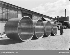 Fra fabrikken i 1952 fotografert av Leif Ørnelund Foto: Oslo Museum/www.oslobilder.no