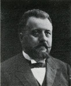 Albrecht Scumacher, direktør for Oslo Monier- & CementvarefabrikFoto: Scan fra jubileumsbok 1945<br>