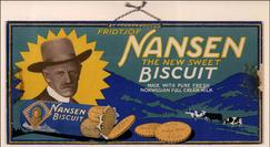 Nansenkjeksen kom i 1922, som en attributt til at Nansen fikk Nobels fredspris.Foto: Akershus Fylkesmuseum<br>