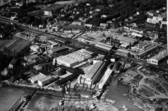 NEBB-området fra luften i 1953. Foto: Oslo Byarkiv