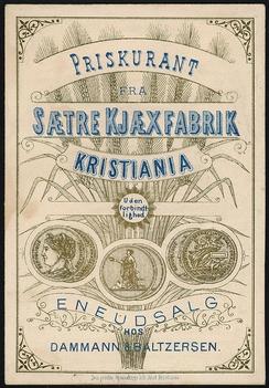 Prististe 1888: Den eldste bevarte prislisten i Sætremuseet på Sandaker.Foto: Akershus Fylkesmuseum<br>