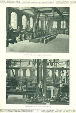 Fra produksjonslokalene til Rapp, ca. 1917
