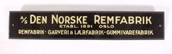 Skilt for Den Norske Remfabrik, NTM 21378