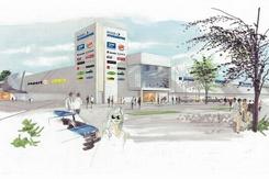 Coop kjøpte Renolittfabrikken og bygde det om til kjøpesenter som åpnet i 2007.Foto: Veidekke<br>