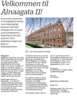 Salgsprospekt for leilighet i Skofabrikken borettslag