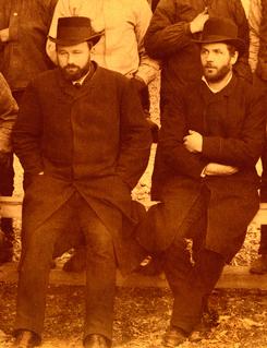 Ingeniør Christen Arentz Segelcke (t.v.) og Gabriel Kielland Hauge. Foto: Akershusmuseet<br>