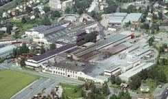 Stålverket og verkstedet på Strømmen i 1970Foto: Akershusbasen<br>