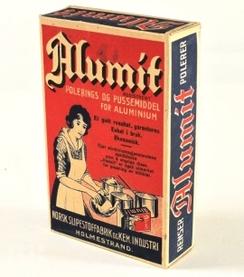 Forpakning med AlumitFoto: Aust-Agder Museum<br>