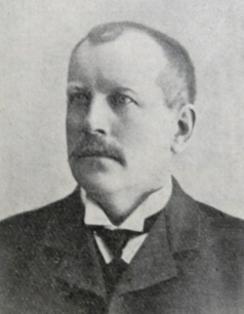 Joh. Pedersen, eier og driver av Holmestrand Jern- & Fargehandel. Varamann i første styret og senere styremedlem.Foto: Aluminiummuseet / Vestfoldmuseene<br>