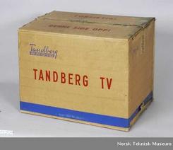 Originaleske for Tandberg fjernsyn modell 1, ca 1958-60Foto: Norsk Teknisk Museum NTM 25129<br>