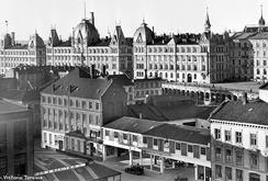 Thunes anlegg i Vika, fotografert i 1932, 30 år etter utflyttingen.Foto: Wilse Oslo museum<br>