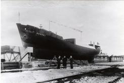 Hadsel bygd for Vesteraalske i 1940, tjente bl.a. som nødhurtigrute under krigenFoto: Østfoldmuseene. Ukjent fotograf, utlånt av Knut H.Næss <br>