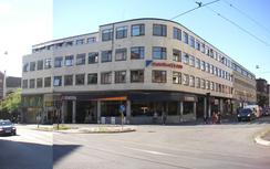 Trondheimsveien 100, hvor Radonettes hovedfabrikk og kontor lå frem til fabriken i Sandvika sto klar i 1968