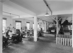 Veveriet i Eidsvåg i 1943Foto: Atelier KK / Universitetsbiblioteket i Bergen ubb-kk-n-456-233<br>