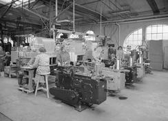 Blikktrykkeriet på 1950-tallet.Foto: Atelier KK / Ub Bergen / ubb-kk-n-460-139<br>