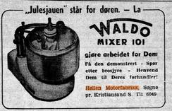 Foto: Skjermdump fra avisen Hardanger 20.11.1954<br>