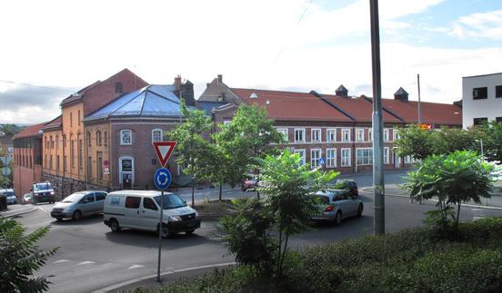 Maridalsveien 3, Christiania Bryggeri / Nora, sett fra rundkjøringen i Maridalsveien / Møllerveien / Fredensborgveien