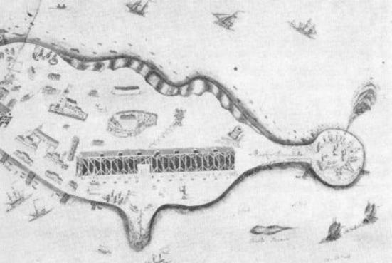 Kart over Vallø (Ingressbilde)