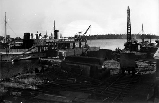 Husø mekaniske verksted. Slottsfjellmuseets fotosamling (Ingressbilde)