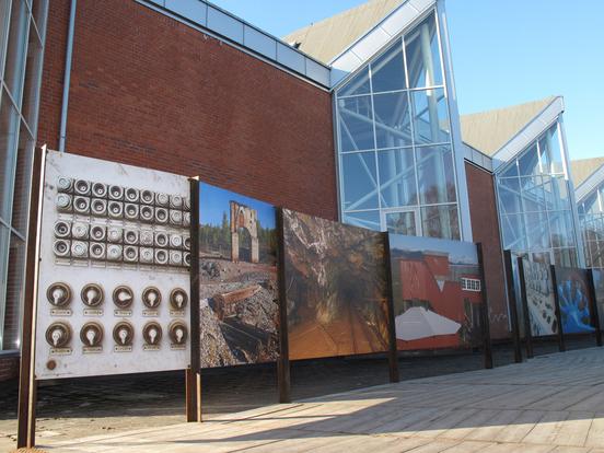 Fordums Kraft - industrihistorie på utendørs fotoutstilling på Norsk Teknisk Museum